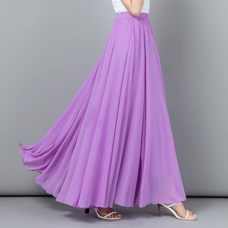 YUBKAVPOL / Лавандовая длинная шифоновая юбка в пол
