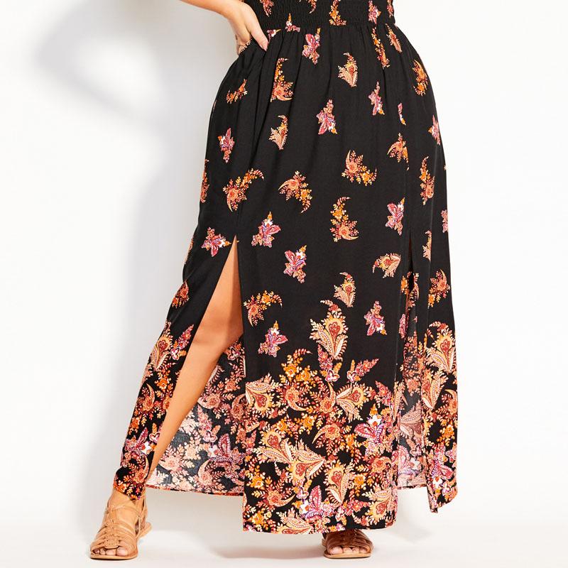 CITY CHIC / Длинное летнее платье в стиле бохо из вискозы