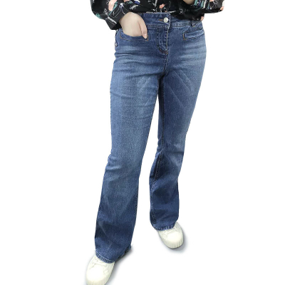 DEB JEANS / женские джинсы клеш больших размеров