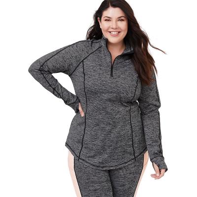 TORRID / Женский спортивный пуловер большого размера на молнии