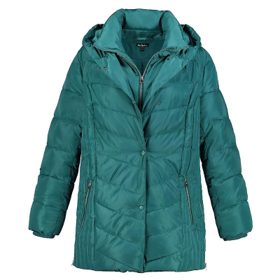 ULLA POPKEN / Куртка для полных женщин бирюзового цвета