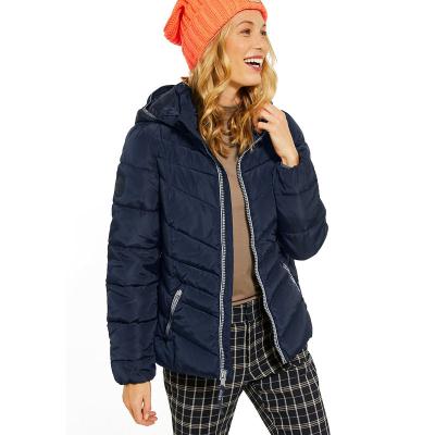 CECIL / Женская спортивная куртка пуховик темно синего цвета