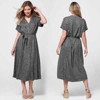 ECOVERO / Платье рубашка из вискозы свободного покроя