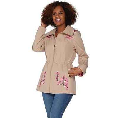 Dennis by Dennis Basso / Легкая куртка премиум для полных женщин
