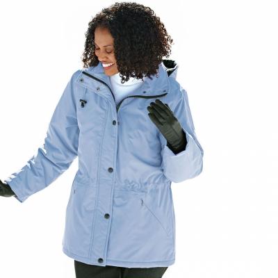 BLAIR / Парка большого размера для женщин морозный голубой