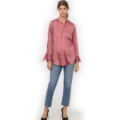 Женская атласная рубашка