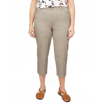 CATHERINES / Капри женские с высокой талией на резинке большого размера