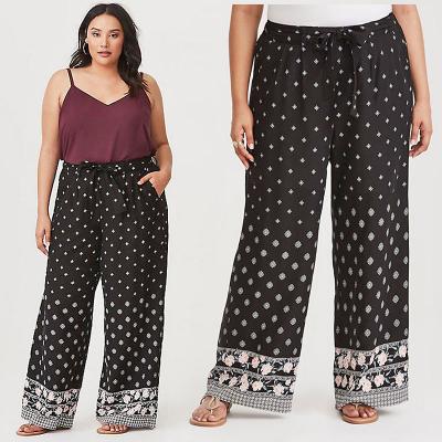 TORRID / Женские летние брюки из вискозы большого размера