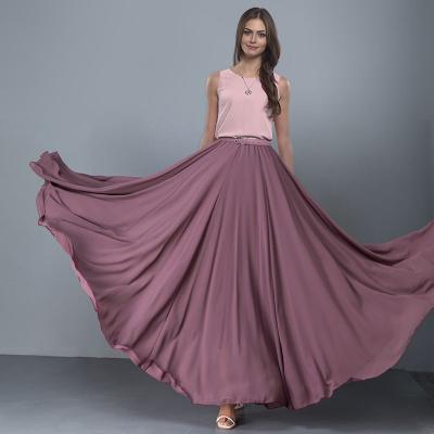 YUBKAVPOL / Длинная шифоновая юбка цвета лотоса