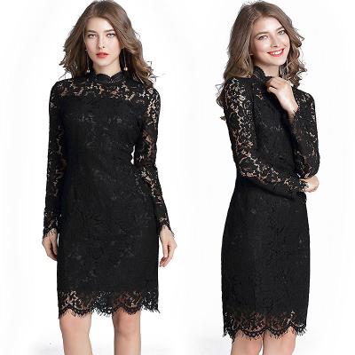 She's / Платье миди черного цвета из кружева