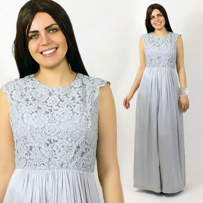 She's / Длинное платье из мокрого шелка с кружевом