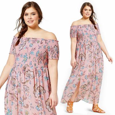 XHILARATION / Платье макси из шифона с открытыми плечами