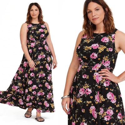 TORRID / Длинное шифоновое платье большого размера