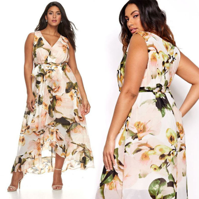 SANGRIA women's / Платье макси с запахом из шифона