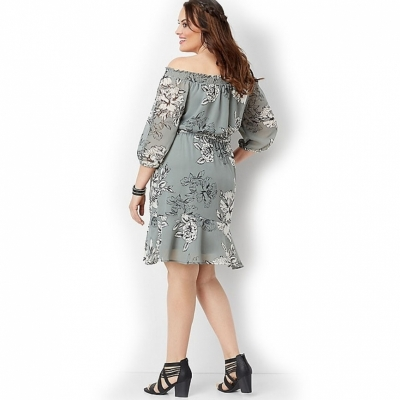 Шифоновое платье миди