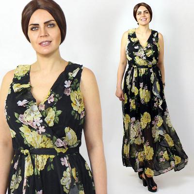 PRINCESSwomen's / Шифоновое длинное платье с запахом