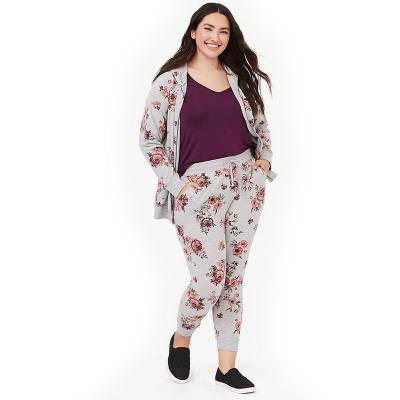 TORRID / Женский спортивный костюм большого размера с цветочным принтом