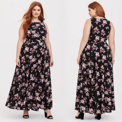 TORRID / Шифоновое длинное платье с цветочным принтом