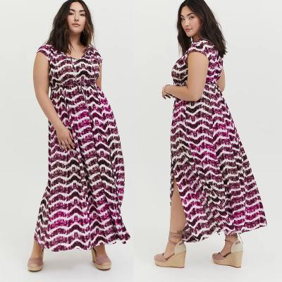 TORRID / Длинное летнее платье из вискозы в стиле ампир