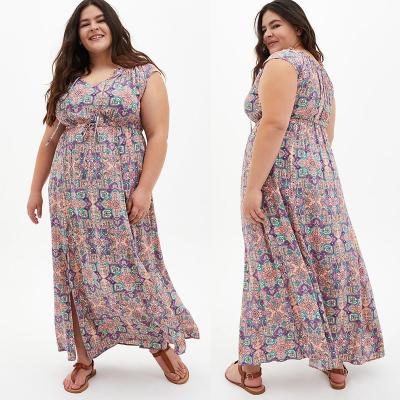TORRID / Длинное летнее платье из вискозы в стиле бохо