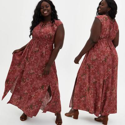 TORRID / Платье макси  из вискозы с принтом в стиле бохо