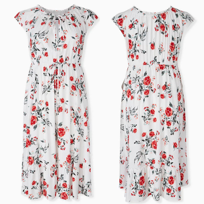 TORRID / Платье миди из вискозы с принтом в стиле бохо