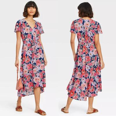 OLD NAVY / Платье из вискозы с подолом впереди короче сзади длиннее