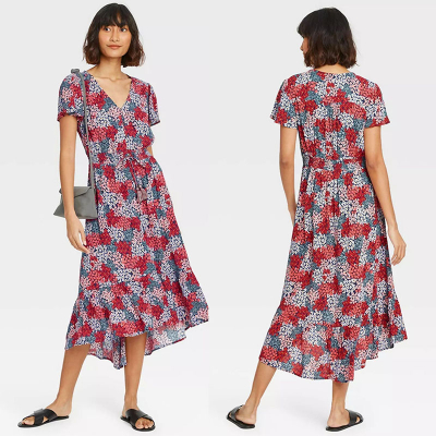 OLD NAVY / Платье из вискозы с асимметричным подолом