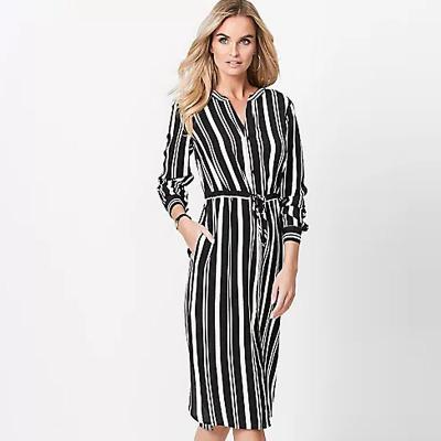 B SELECTION / Платье рубашка в полоску из вискозы