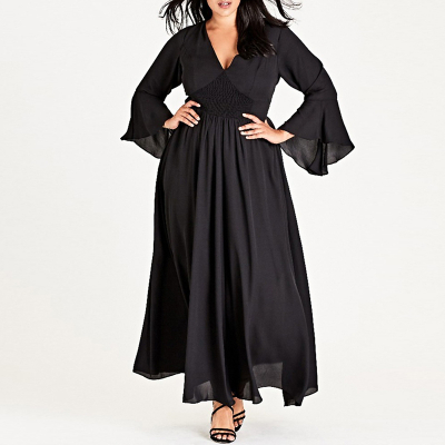 CITY CHIC / Шифоновое длинное платье в пол премиум класса