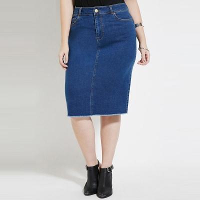 KMwomen's / Джинсовая юбка карандаш