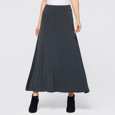 BPK SELECTION / Трикотажная юбка макси серого цвета