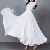 YUBKAVPOL / Длинная шифоновая юбка в пол белого цвета