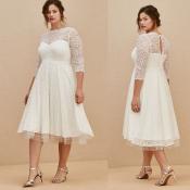 TORRID / Белое платье из кружева с фатином премиум
