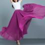 YUBKAVPOL / Длинная шифоновая юбка в пол цвета фуксии